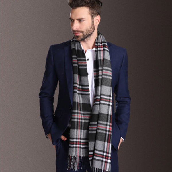 Winter Warm Checks Scarf/Muffler