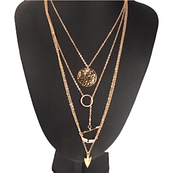 Bohemia Multilayer Arrow Necklace