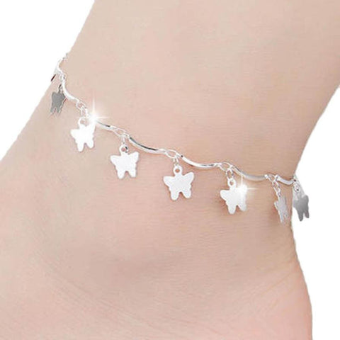 Butterfly Dangle Charms Anklet