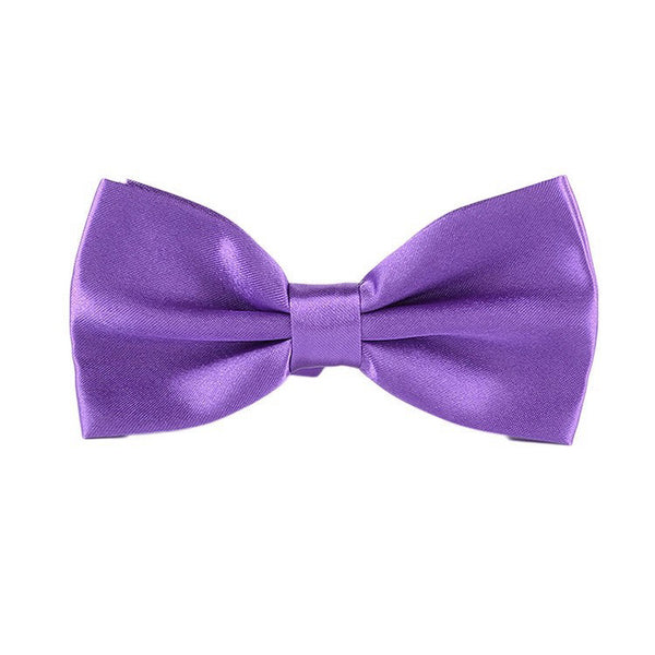 Crazy Purple Satin Bowtie