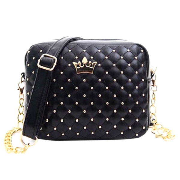 Rivets and Crown Sling Bag