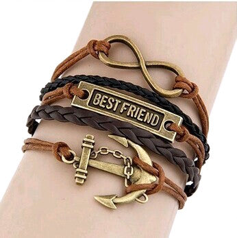 Multilayer Infinity Anchor Friend Rope Bracelet