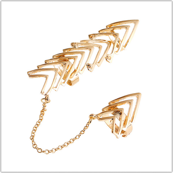 Arrows Shaped Chain Link Ring