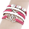 Multilayer Infinity Hearts Rope Bracelet