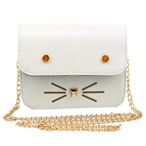Cute Cat Face and Whiskers Sling Bag