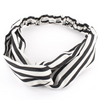 Black/White Stripes Twist-Knot Head Wrap Headband