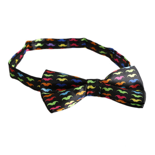 Colourful Moustache Bowtie