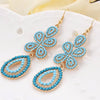 Retro Beaded Drop Earrings