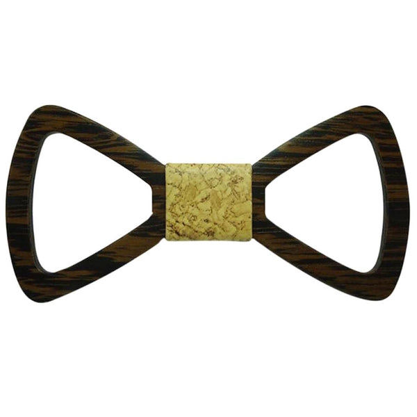 Abstract Textured Wooden Bowtie