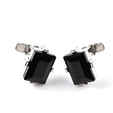 Stone Embellished Rectangle Cufflinks