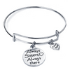 ALWAYS SISTERS ALWAYS THERE Engraved Charms Bracelet