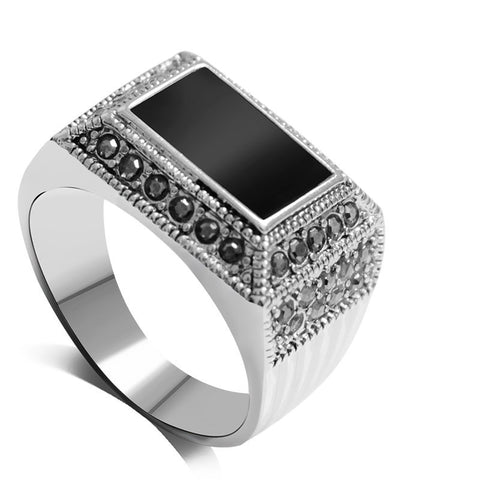 Rectangle Shaped Crystal Ring