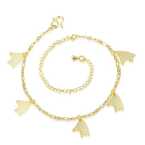 Abstract Charm Danglers Anklet