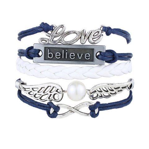 Love Believe Infinity Multilayer Wristband