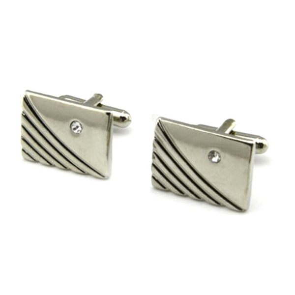Rectangle with Crystal Cufflinks