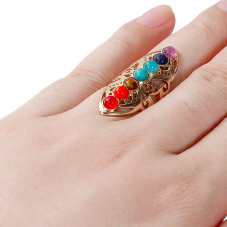 Colorful Gem Stone Ring