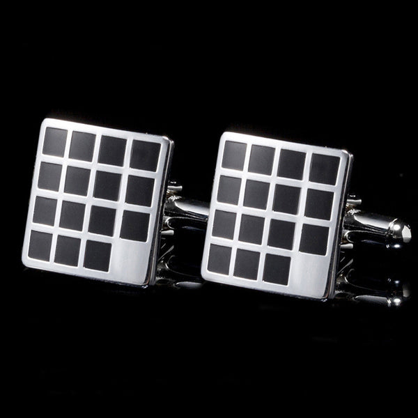 3D Square Grid Cufflinks