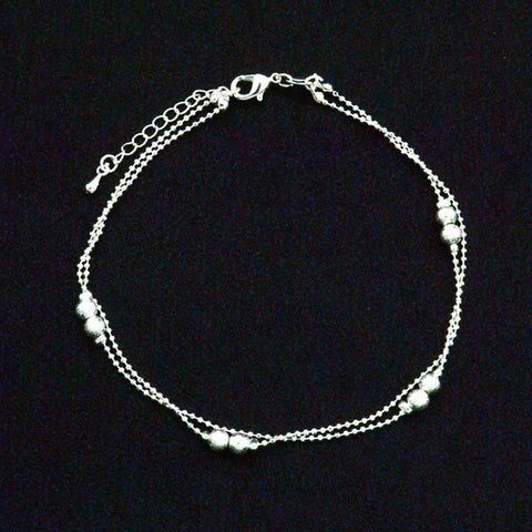 Beaded Layered Anklet