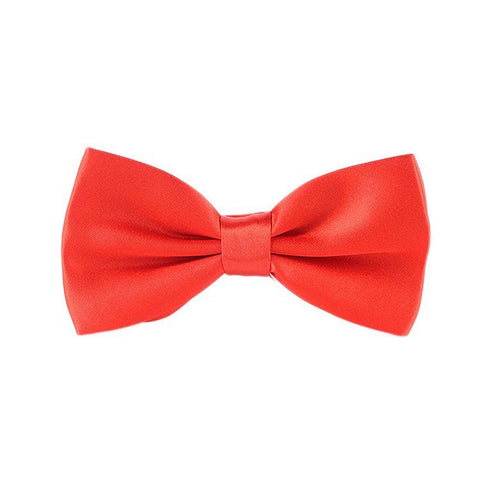 Blood Red Satin Bowtie