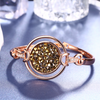 Crystal Ball Bangle Bracelet
