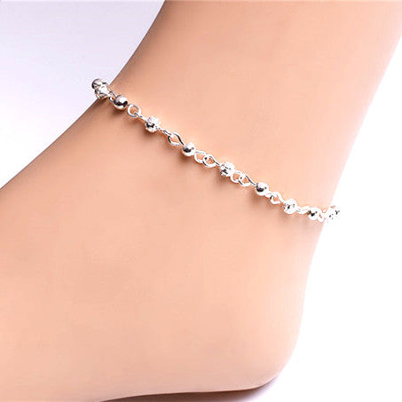 Small Bead Hollow Balls Anklet