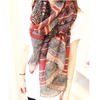 Abstract Geometric Print Scarf