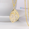 Crystal in Leaf Pendant Chain