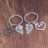HER BUCK HIS DOE Engraved Couple Keychain Set