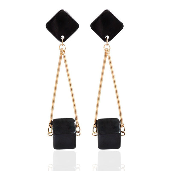 Holding Cubes Drop Earrings