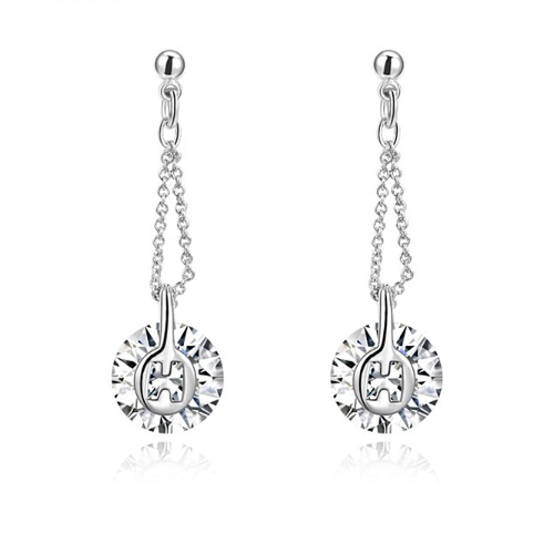 Hanging Crystal Chain Earrings