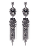 Chunky Metal Fringes Earrings