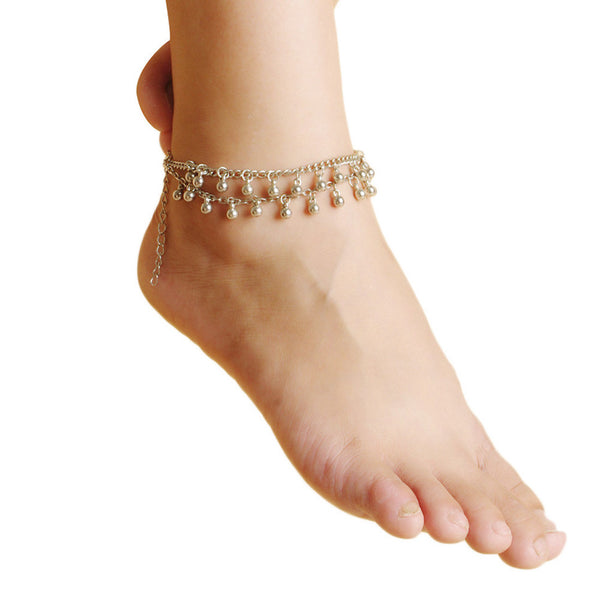 Bell Beads Layered Anklet