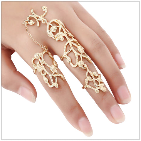 Floral Bliss Chain Link Ring