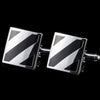 Diagonal Stripes Square Cufflinks
