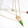 Layered Circle Triangle Drop Necklace