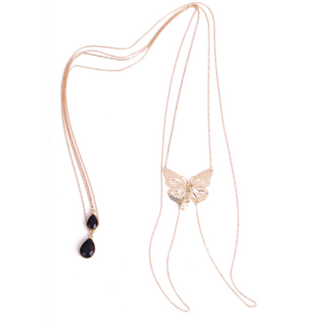Butterfly & Beaded Body Necklace