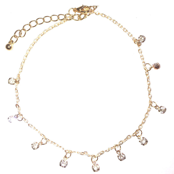 Crystal Dangle Charms Anklet