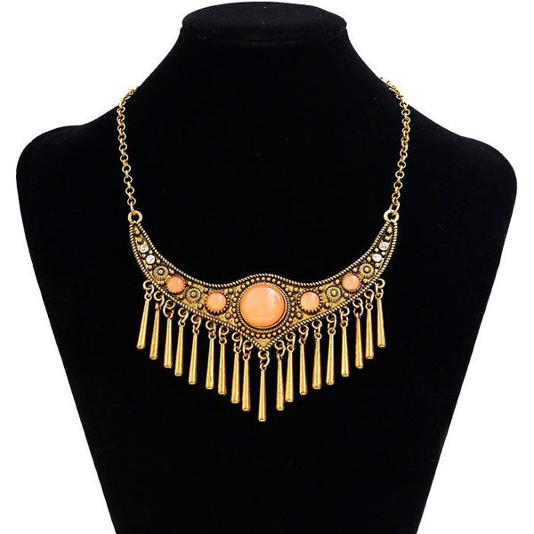 Metal Fringes Vintage Necklace