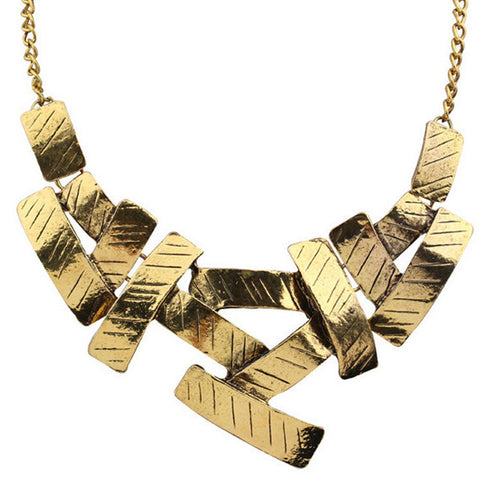 Abstract Bars Chain Necklace