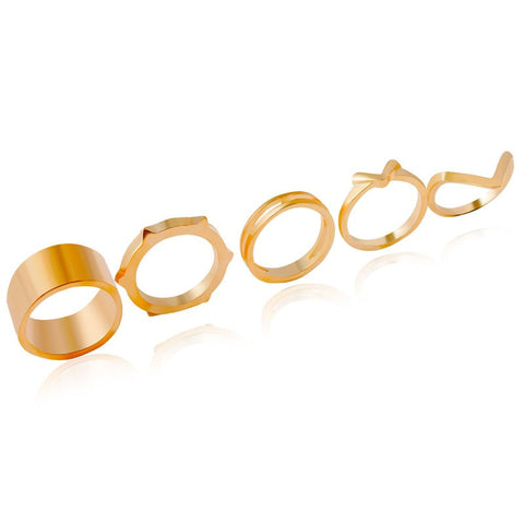 Zigzag Rings Set