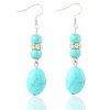Blue Gem Dangle Earrings