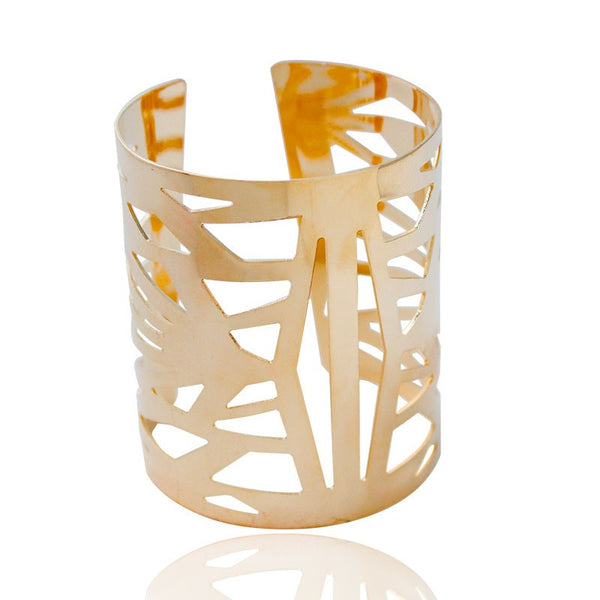 Abstract Hollow Pattern Cuff