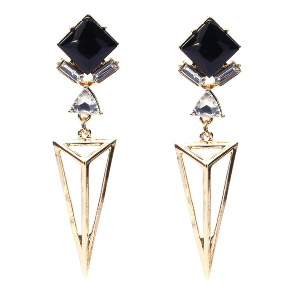 Inverted Pyramid Drop Earrings