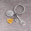 I LOVE YOU MOM Dinnerware Charms Keychain