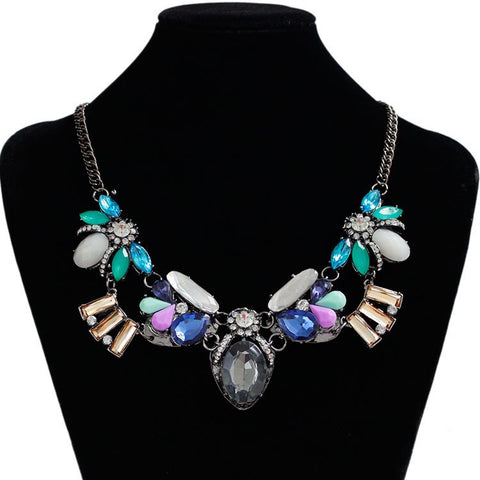 Abstract Crystals Necklace