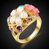 Big Flower Crystal Ring