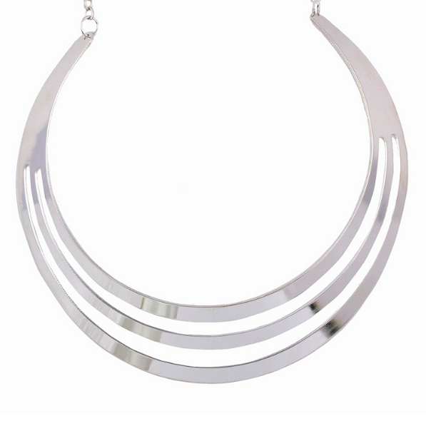 Curved Circles Torque Necklace
