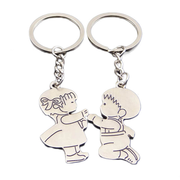 Boy & Girl in Love Keychain