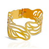 Hollow Touching Leaves Cuff