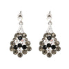 Crystal Cluster Drop Earrings